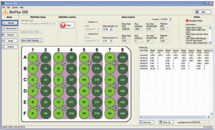 The BioFlux Instrument Control software